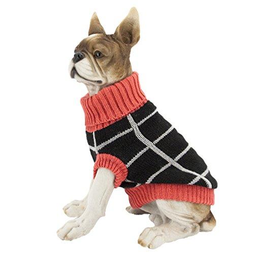 YiJee Haustier Hund Warme Gestrickte Pullover Kleine Hundchen Halloween Kleidung Strickwaren Als Bild S (Pullover Halloween-hund)