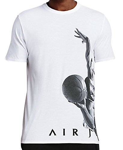 Nike michael jordan flying dreams tee – maglietta a maniche corte per uomo, uomo, michael jordan flying dreams tee, bianco/nero, m
