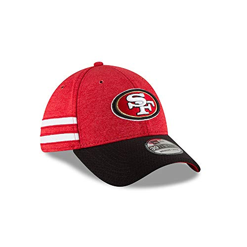 A NEW ERA Era NFL San Francisco 49ERS Authentic 2018 Sideline 39THIRTY Stretch Fit Home Cap, Größe:S/M