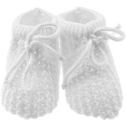 Recién nacido niños niñas Crochet Knit Botitas calcetines