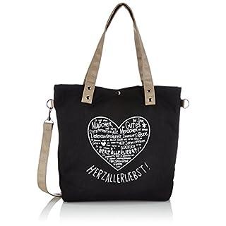 Adelheid Herzallerliebst Einkaufstasche, Größe:ohne Größe, Farbe:graphit
