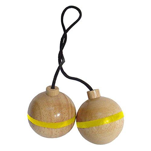 ergolf Spin Ladder spare balls, Wurf- und Schießspiel, 3-er Set, gelb (Ladder Ball Bälle)