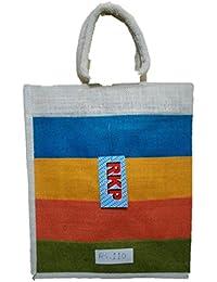 DSK Enterprise Jute Multi Color 11.5L*15w+4inch Box Eco Friendly Jute Bag (DSKE-2)