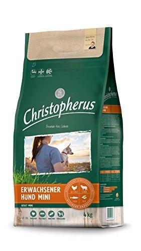 Christopherus Adult mini, Vollnahrung für ausgewachsene Hunde mit normaler bis gesteigerter Aktivität, Trockenfutter, Geflügel, Lamm, Ei, Reis, Reduzierte Krokettengröße, Erwachsener Hund, 4,0 kg
