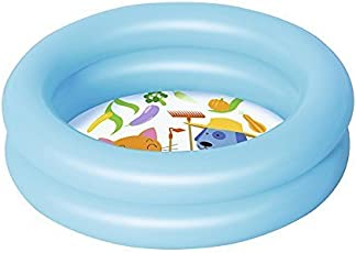 Create+ Bestway Swimmimg Pool 2 Feet | Age 1-2 Years | Easy to Store | Summer Toy | Two Ring Outer | Indoor Outdoor | 24 H 6 Inches