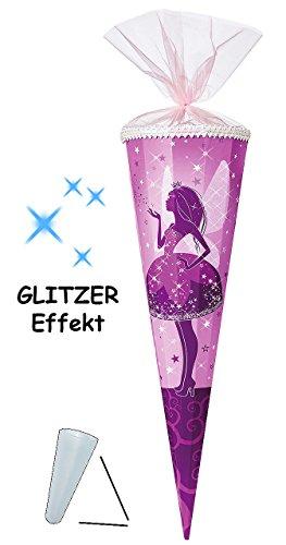 Schultüte Elfenkönigin mit 3-D Glitzer für Mädchen