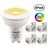 Ampoule LED GU10 Couleur Changement RGB+Blanc Chaud, 3W Spotlight Lights Ampoule...