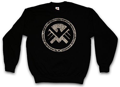 S.H.I.E.L.D. VINTAGE LOGO III PULLOVER SWEATER SWEATSHIRT MAGLIONE - Nick Marvel SHIELD Fury Hydra Sign Shirt Taglie S - 5XL