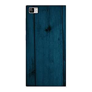 Blue Royal Wood Back Case Cover for Xiaomi Mi3