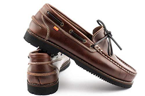 Zapato Nautico Tipo Apache - Hombre Color: Cuero Talla: 41