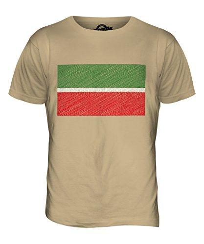 CandyMix Tatarstan Kritzelte Flagge Herren T Shirt Sand