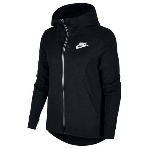 Nike Damen Sportswear Advance 15 Langarm Oberteil Mit Kapuze Full-Zip, Black/(White), M