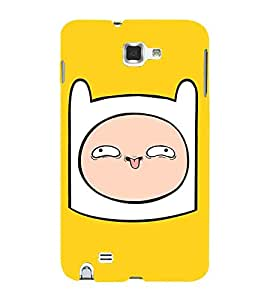 Cartoon, Grey, Cartoon and Animation, Printed Designer Back Case Cover for Samsung Galaxy Note N7000 :: Samsung Galaxy Note I9220 :: Samsung Galaxy Note 1 :: Samsung Galaxy Note Gt-N7000