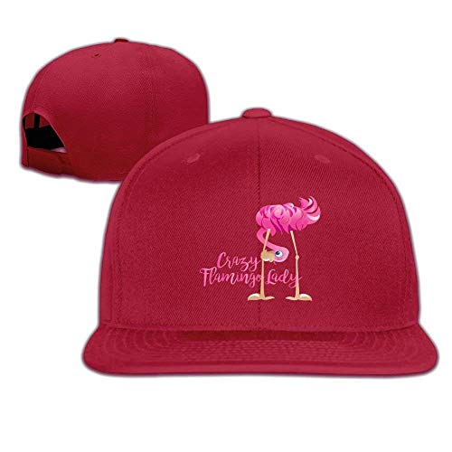 a74f82b2094 Crazy Flamingo Lady Snapback Unisex Adjustable Flat Bill Visor Hip-Hop Hat