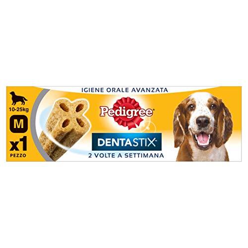Pedigree Dentastix Snack per la Igiene Orale Avanzata 2 Volte a Settimana (Cane Medio -25 kg) 80 g 1 Pezzo - Confezione da 9 Pezzi