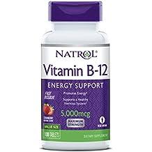 Natrol Vitamin B-12 Fast Dissolve, Vitamina B12 con Disolución Rápida En La Boca