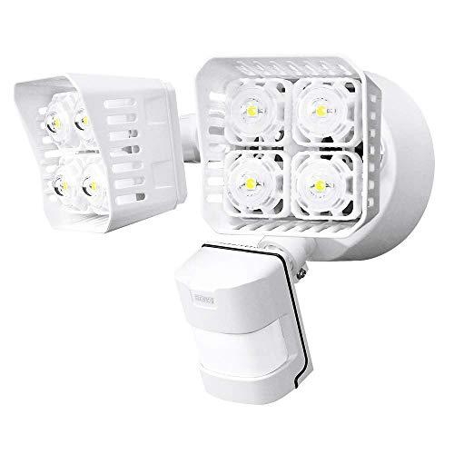 Sansi Luce di Sicurezza Esterna 30w Faretto con Sensore di Movimento 3400LM 5000K Luce Diurna Faro Illuminazione Esterno Impermeabile
