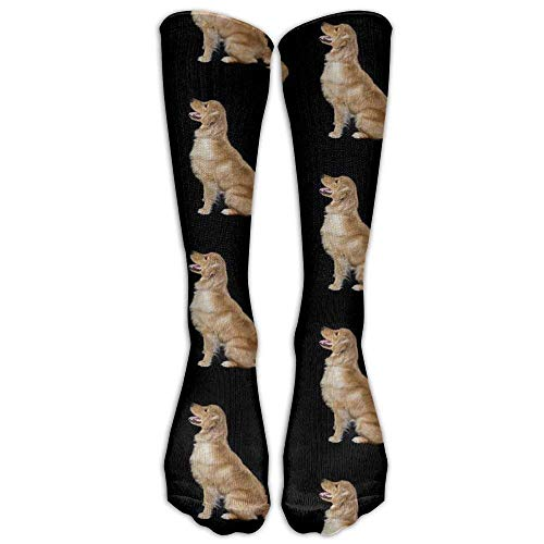 HOJJP Golden Retriever Dogs Fashion Knee High Graduated, Compression Socke For Women And MenRunning & Fitness,Travel, Flight, Nurses & Medical,Pregnancy, Recovery And Performance.(long 50cm)