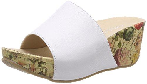 Andrea Conti Damen 1545707 Pantoletten, (Weiß), 42 EU
