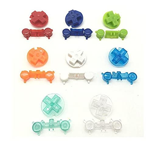 Laixing 8-Colors Replacement Colourful Buttons for Game Boy Pocket GBP Custom Mod