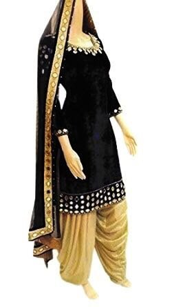 Crazy Women\'s Party Wear Velvet Embroidered Patiala Salwar Suits for women Semi Stitched