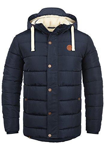 BLEND Frederic Herren Winterjacke Stepp-Jacke mit Kapuze aus hochwertiger Materialqualität , Größe:M, Farbe:Navy (70230)
