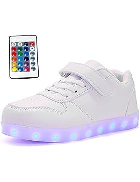 [Patrocinado]Maniamixx Zapatos LED con Mando a Distancia Zapatillas Luminosos Para Niños y Niñas