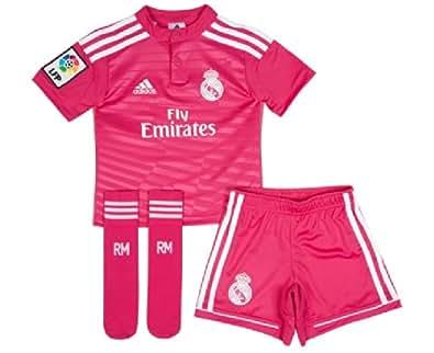 adidas Performance REAL MADRID AWAY MINIKIT Ensemble Maillot Football Enfant Rose Climacool adidas Performance T:10 ANS