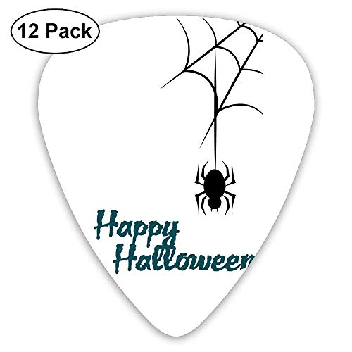 Classic Guitar Pick (12 Pack) Spider Halloween Player's Pack for Electric Guitar,Acoustic Guitar,Mandolin,Guitar Bass