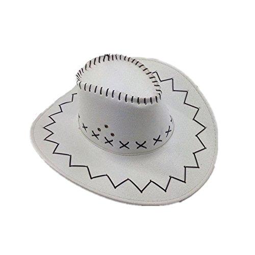 Miobo Cowboyhut Westernhut Cowgirl australien Texas Cowboy Damenhut Herrenhut Hut Hüte Western Weiss