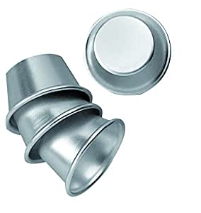 fackelmann formen aus aluminium f r karamellcreme 4 st ck aluminium silber k che. Black Bedroom Furniture Sets. Home Design Ideas