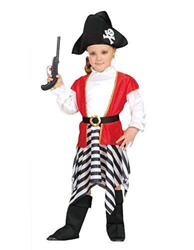 Kinder Kostüm Piratin Girl Shipmate Fancy Kleid (4-6 Jahre)