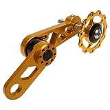 Cikuso Accesorios de La Bicicleta de Aleación de Aluminio Piezas de Repuesto de Cadena para Bicicleta Tensor de Cadena de Desviador Trasero de Velocidad única de MTB S3