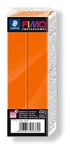 STAEDTLER 8041-4. Pasta para modelar Fimo Professional. Caja con 1 Pastilla de Color Naranja de 454 Gramos.
