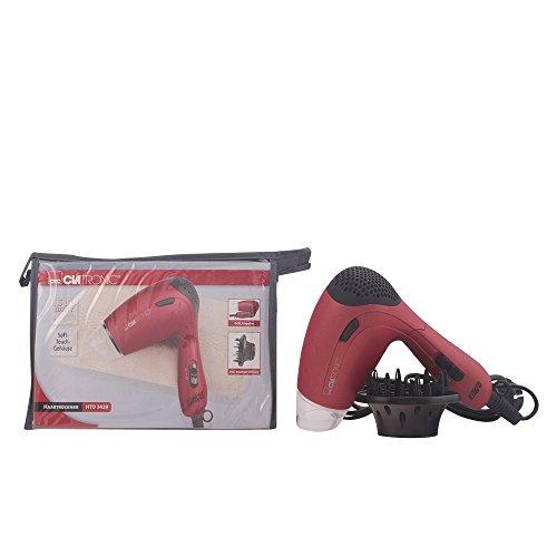 Clatronic HTD 3429 - Secador de pelo, color rojo metálico