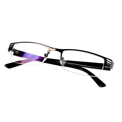Hzjundasi Mode Metall Hälfte Rahmen Brille Anti-Strahlung Beschichtet Linsen Kurz Entfernung Kurzsichtigkeit Brillen -1.0~-4.0 (Diese sind nicht Lesen Brille)