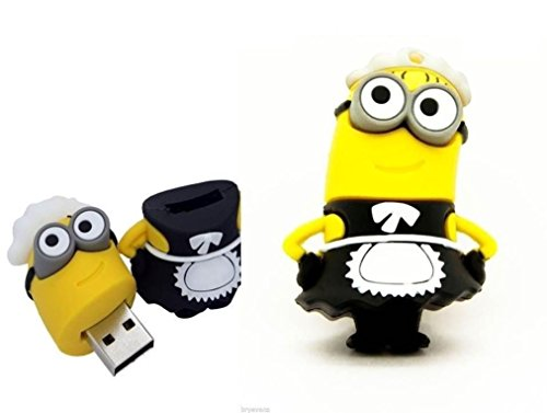 Chiavetta usb 2.0 flash drive 8 gb personaggio maid minion sottile