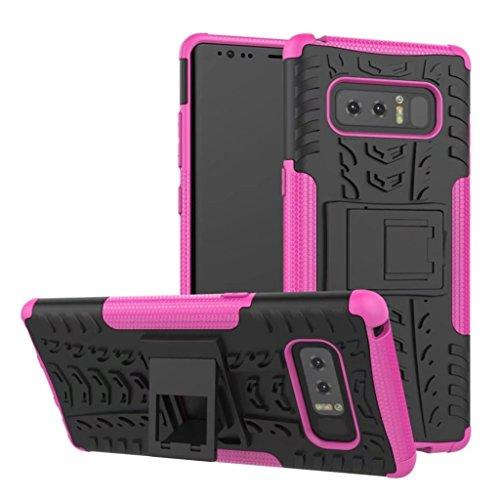Schmutz Cup Griff (For Samsung Galaxy Note 8, Happy Event Hybride Shockproof Stents Kratzer-resistente Fall-Abdeckung für Samsung-Galaxie-Anmerkung 8 (Rosa))