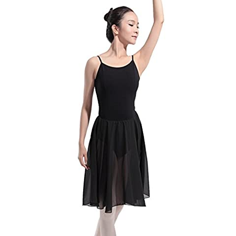 Modèles féminins Harnais Jupe en fil Ballet Danse Siamois Performance Jupe de danse , black , xl