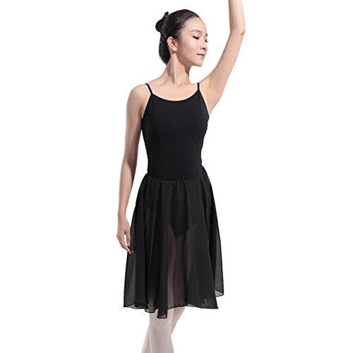 Weibliche Modelle Harness Garnrock Ballett tanzen Siamese Performance Tanzrock , black , (Kostüme Racks Tanz Kleidungsstück)