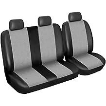 Citroen Jumper Asiento Fundas de asiento, set diseñada de piel sintética alcantara 2 + 1