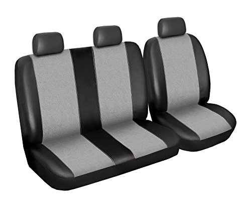 Fiat Ducato Seat Seat covers, set designed in synthetic leather Alcantara 2 + 1 fahres itz case Passenger Bank Bag