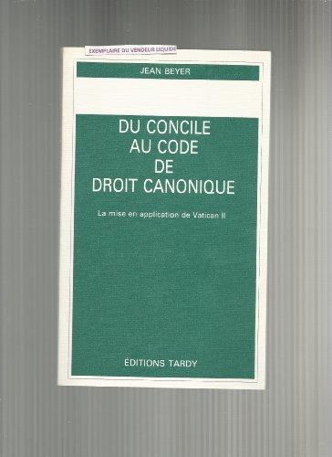 Du Concile au Code de droit canonique