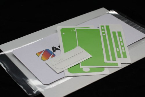 appskins Films Ensemble de iPhone 5/5S/SE Color Edition green/white Mat