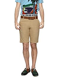 Allen Solly Men Comfort Fit Shorts_AYSR315S04071_30_Khaki
