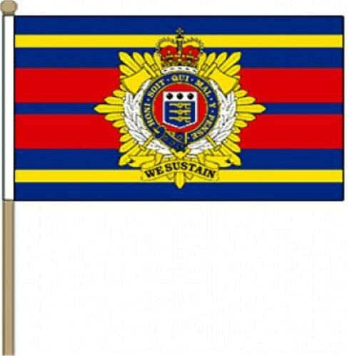 British Army and Royal Electrical and Mechanical Engineers Corps REME Friendship Table Flag Display 25cm 10