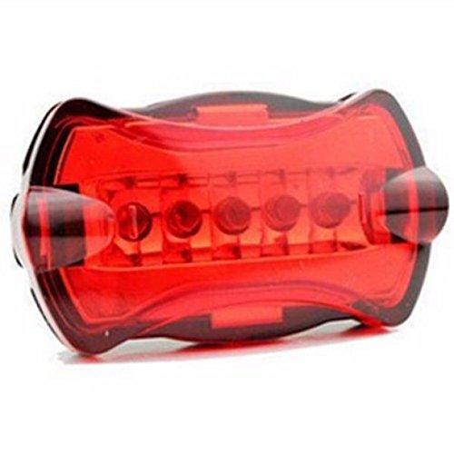 LEvifun Fahrradlicht AAA Batterie Geladen Rücklicht Fahrrad Rücklicht Fahrradbeleuchtung Fahrradlenker Fahrradlampe Radfahren Superhelle Sport Camping Warnlicht Wasserdicht fuer Kinder- , Herren- und Damen Raeder F11 (Rot)