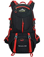 50L Hiking Backpack Waterproof Rucksack Outdoor Knapsack Sport Daypack for Climbing Mountaineering Camping Fishing Travel Cycling Skiing(Black)