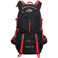 50L Hiking Backpack Waterproof Backpacking Outdoor Sport Daypack for Climbing Mountaineering Camping Fishing Travel Cycling Skiing(Black)
