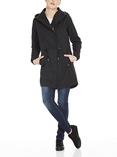 Bench Damen Mantel Feminine Coat with Detachable Hood Schwarz (Black Beauty Bk11179)